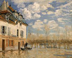 洪水の中の小舟 アルフレッド・シスレー 1876年