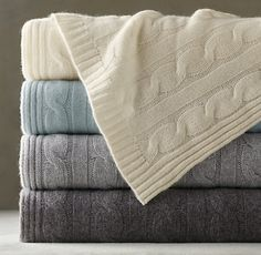 Cashmere throw from Restoration Hardware.