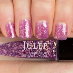 Julep - Ruth (It Girl): Golden purple iridescent jagged-cut glitter glaze