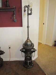 1960 Mueller Fire Hydrant Lamp by vintagepipedreams on Etsy, $1200.00
