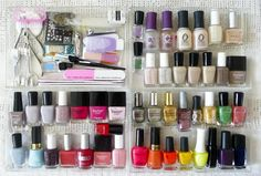 Nail polish organization #beauty #organization #nails