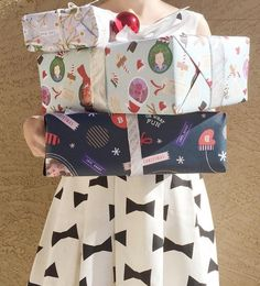 Wrap up your gifts with personalized gift wrapping paper from Minted.  Image courtesy of @MommaSociety