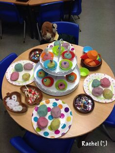 """A Play Dough Tea Party from Stimulating Learning with Rachel ("""",) Eyfs Activities, Nursery Activities, Playdough Activities, Preschool Activities, Reggio Emilia, Role Play Areas, Tuff Tray, Messy Play, Play Based Learning"""