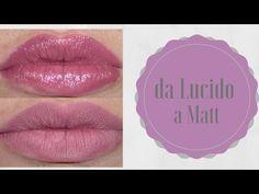 DIY: rossetto matt , di lunga durata e non trasferibile - YouTube