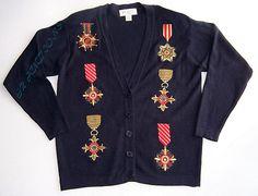 Petite Sophisticate Womens Navy Medallion Sweater Jacket Size Small Cardigan | eBay