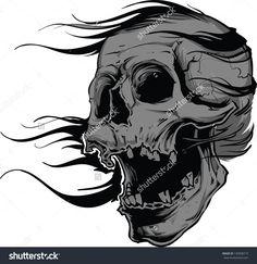 Royalty-free Vector skull artwork #136908719 Stock Photo | Avopix.com