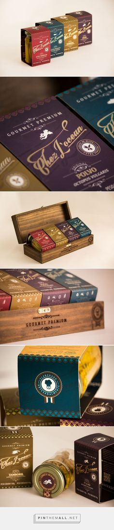 Chez L'ocean jar preserved fish by BrandHolic. Source: Behance. Pin curated by #SFields99 #packaging #design #inspiration #ideas #branding #fish #jar