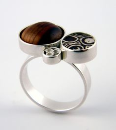 Contemporary Mokume Gane Ring by Eric Burris Jewelry on Etsy