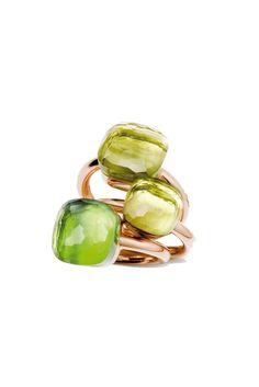 Pomellato Nudo Rings So pretty! High Jewelry, Jewelry Rings, Jewelry Box, Jewelery, Jewelry Accessories, Jewelry Design, Pomellato, Peridot Color, The Bling Ring