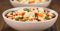 Toasted Israeli Couscous With Colorful Bell Peppers