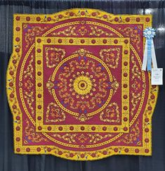"""A quilt made by a pair of Oregon residents was named """"Best of Show"""" at the American Quilter's Society Fall QuiltWeek awards gala at Walker Hall in Paducah Wednesday night. Hand Quilting, Machine Quilting, Cordless Iron, Handi Quilter, Splash Park, Cool Walls, State Art, Quilt Making, Oregon"""