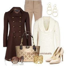 """Cowl Neck Jumper & Coach"" by casuality on Polyvore"