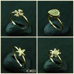 Anéis delicados usados sozinhos ou juntos no mesmo dedo! www.ckdsemijoias.com.br
