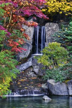 Nishinomiya Japanese Garden at Manito Park in Spokane, WA.