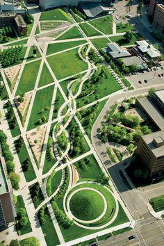 University of Cincinnati Ohio, Campus Green on Behance
