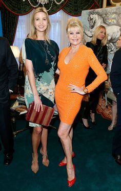 Ivanka & Ivana Trump at Giovanni Perrone's Art Exhibition in NYC | April 29, 2013