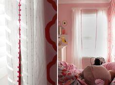 DIY Pretty Pom-Pom Curtains