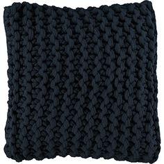 Navy Basket Knt Cushion 50cm x 50cm