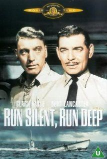Run Silent Run Deep (1958) Stars:  Clark Gable, Burt Lancaster and Jack Warden.   Storyline: A U.S. sub commander, obsessed with sinking a certain Japanese ship, butts heads with his first officer and crew.     Source: http://www.imdb.com/title/tt0052151/