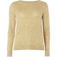 **Vila Camel Melange Jumper ($69) ❤ liked on Polyvore featuring tops, sweaters, beige, jumpers sweaters, camel sweater, long sleeve tops, long sleeve jumper and beige top