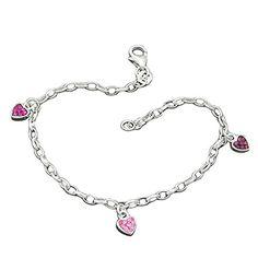 Armband, Herz rosa-pink, Silber 925 Dreambase http://www.amazon.de/dp/B00H2IT4MS/?m=A37R2BYHN7XPNV