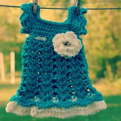 Teal Cream Newborn Dress Infant Outfit Baby Girl by Kimberose, $40.00