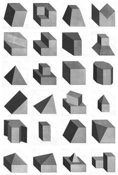 Sol LeWitt – 'Forms derived from a cube', 1982