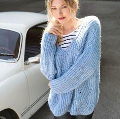Объемный пуловер - схема вязания спицами. Вяжем Пуловеры на Verena.ru
