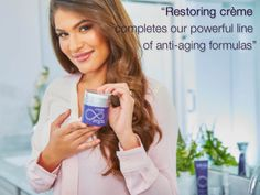 For smooth. Restoring crème contains several ingredients with moisturizing effects, like squalane, jojoba esters, glycolipids and beeswax. Aloe Berry Nectar, Forever Freedom, Forever Living Business, Forever Living Aloe Vera, Forever Living Products, Anti Aging Serum, Moisturizer, Skin Care, Beauty