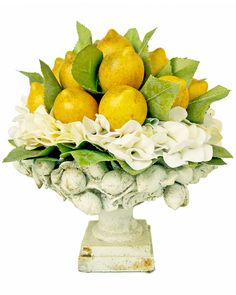 Spotted this 14in Lemon And White Hydrangea Urn on Rue La La. Shop (quickly!).