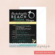 Bachelorette Beach weekend Bachelorette by CakePrintShop on Etsy