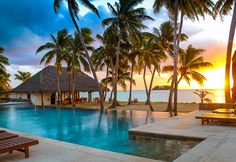#Sunset at Tropica Island Resort, #Malolo Island, #Fiji