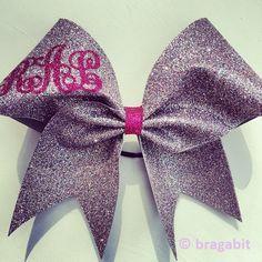 Monogram multicolor glitter cheer bow Cheer Bows
