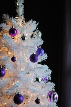 Purple Balls For Decoration Purple Christmas Sparkle Reindeerso Beautiful  My Stuff