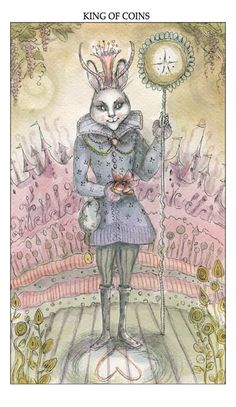 Seventh Crow this is one of the decks I like, it is the Joie de vivre tarot.  The Art of Paulina Cassidy, king of coins