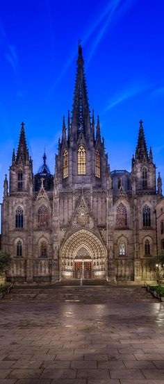 Gothic cathedral, Barcelona, ​​Spain