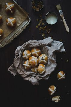 Tangzhong Hot Cross Buns by Two Red Bowls, via Flickr
