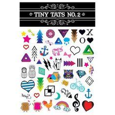 Tiny Tats Vivid Color Temporary Tattoo Collection
