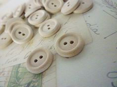 Round Wooden Buttons Half Inch Wood Buttons Pack by heartsupplies, $3.00