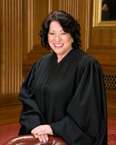 Sonia Sotomayor, first Hispanic to be appointed to the Supreme Court. ¡ Viva la raza!