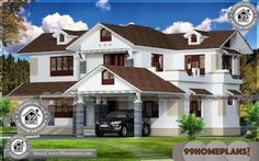 House Ideas Design Collections Two Storey Terrace House Designs Simple Bungalow House Designs, Modern Bungalow House Design, House Front Design, Small House Design, Home Design Images, House Design Pictures, Design Ideas, House Plans With Photos, Small House Plans