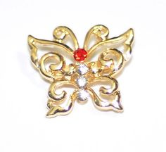 Beautiful Butterfly Brooch Pin - With FREE CLOTHES POUCHS,