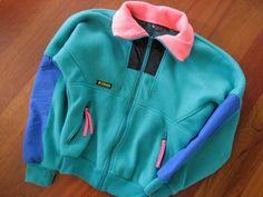 Vintage COLUMBIA Sportswear 1980's Fleece Ski Jacket