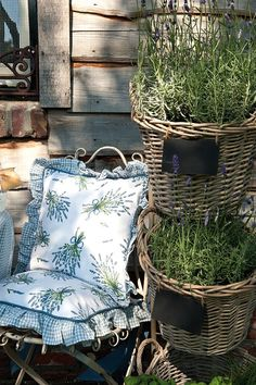 Amazing new Clayre & Eef collection - lavender, www. Outdoor Chairs, Outdoor Furniture, Outdoor Decor, French Country Cottage, Conservatory, Lavender, Gardening, Amazing, Shop