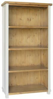 melton painted antique white reclaimed pine bookcase