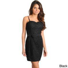 Stanzino Women's Black Lace Overlay Sleeveless Dress - 15179147 - Overstock.com Shopping - Top Rated Stanzino Casual Dresses