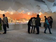 Winter wonderland fake snow floor and clouds maxim velcovsky installations at prague designblok 07