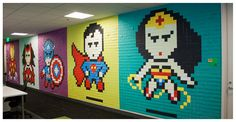 Drab Office Transformed Into A Nerd's Dream With Nothing But Post-It Notes