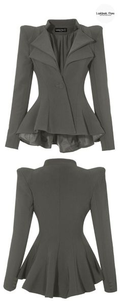 Most Wanted // Feel and look like a boss in these gorgeous grey double lapel fit-and-flare blazer.