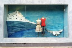 Greece Summer Window Display at Anthropologie - incredible